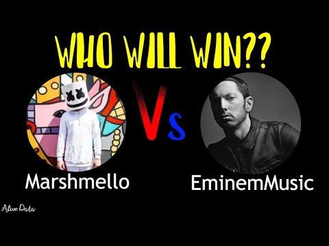Marshmello Vs EminemMusic - Sub Count History (2009-2020) | Who Will Win ??