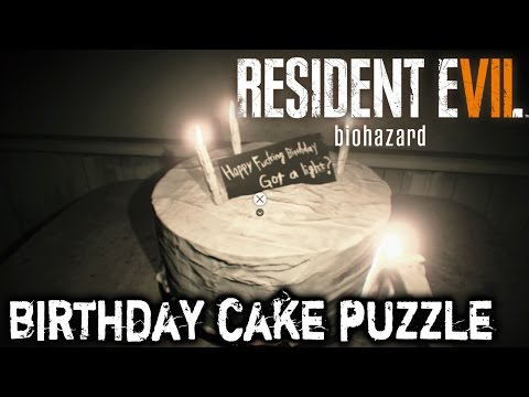 Resident Evil 7 - Birthday Cake Puzzle Solution (Video Tape)