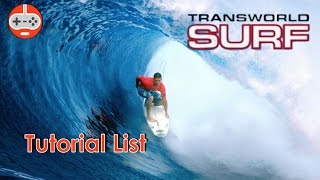 Transworld Surf - Tutorial List (PlayStation 2)