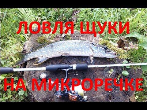 ЛОВЛЯ ЩУКИ НА МИКРОРЕЧКЕ - YouTube