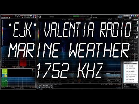 Valentia Coastguard Radio (EJK), Ireland - Weather Marine Forecast - 1752 kHz