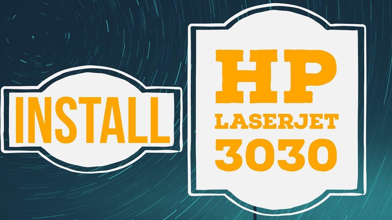HP LaserJet 3015, 3020, 3030, 3380 all-in-one Software ...