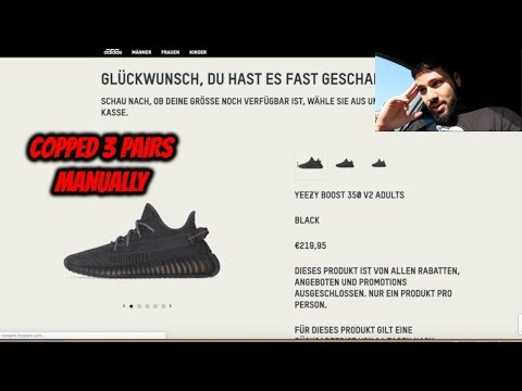 *LIVE COP* Yeezy Boost 350 V2 'Black' *COPPED 3 PAIRS*