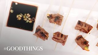 Good Things: Grilled Beef Skewers And A Scallion Dipping Sauce