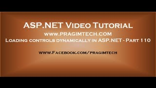 Loading controls dynamically in asp.net   Part 110