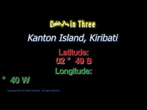 Kanton Island Kiribati - Latitude and Longitude - Digits in Three