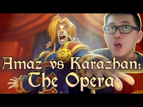 [Hearthstone] AMAZ VS KARAZHAN: The Opera (Wing 2, Normal) and Class Challenges