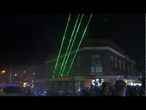 LASER show at Gympie Gold Rush Festival 2012