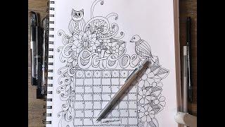 October 2016 Calendar Doodle