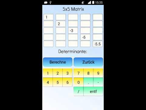 Determinant calculator 5x5 online dating
