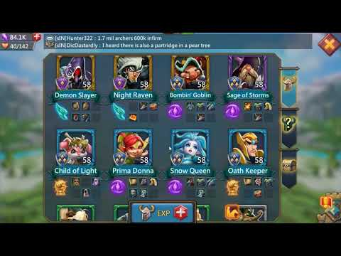 Lords Mobile Elite Stage 5-15 (Death Knight), 6-6 (Trickster), 6-12 (Rose Knight)