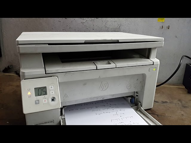 hp laserjet pro mfp m130a error 05 - YouTube