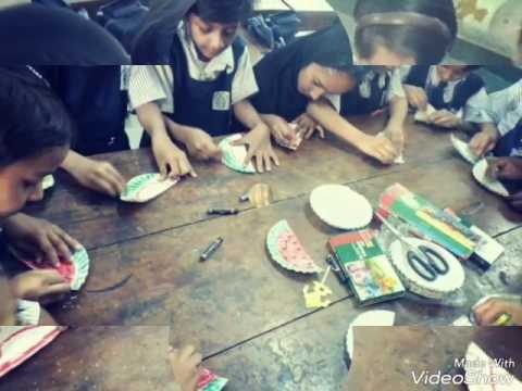 ABL EDUCATION , WATER MELON MAKING WITH PAPER PLATS, DRAWING ACTIVITY