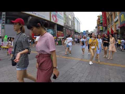 Guangzhou Up Down 9 street ShangXiaJiu Pedestrain Street Go Pro Walkthrough