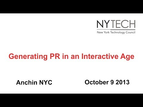 Generating PR in an Interactive Age
