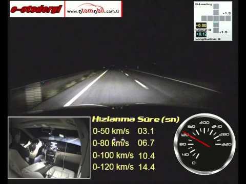 yeni mercedes-benz e 180 test (0-100 km/h, 100-0 km/h) - youtube
