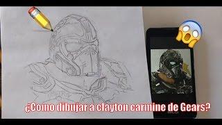¿Cómo dibujar a Clayton Carmine de Gears Of War? | ZadkielArt