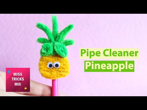 Pipe Cleaner Pineapple Pencil Topper