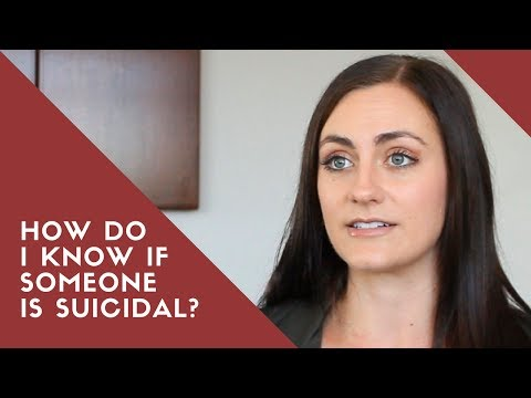 How Do I KNOW If Someone Is Suicidal | Suicide Prevention