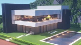 【Minecraft】 Modern House Tutorialㅣ Modern City #9