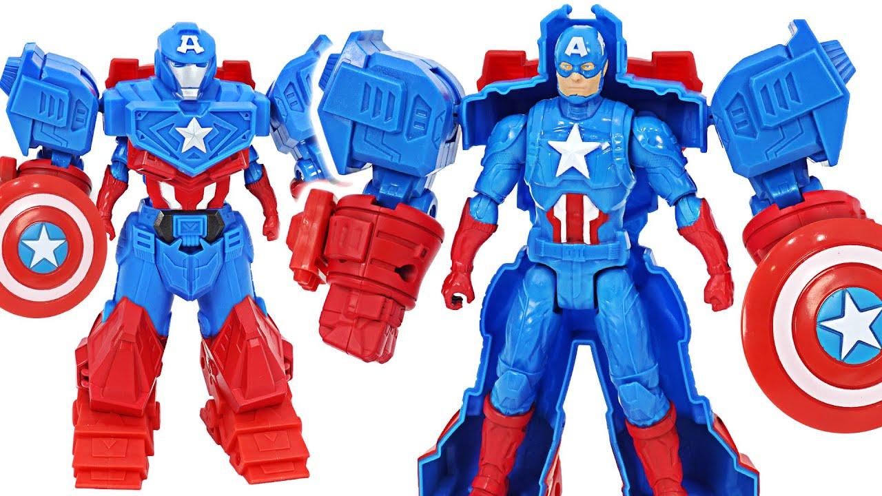 Marvel Avengers Mech Strike Captain America Mech suit appeared! | DuDuPopTOY