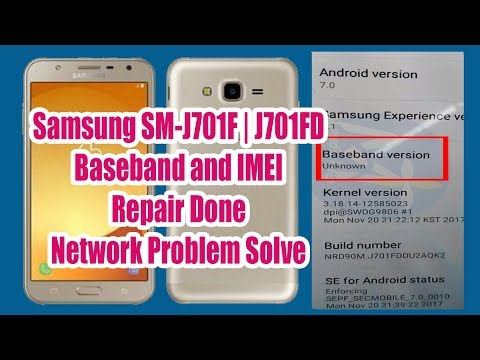 Samsung SM-J701F | J710FD IMEI and Baseband Unknown Repair Success