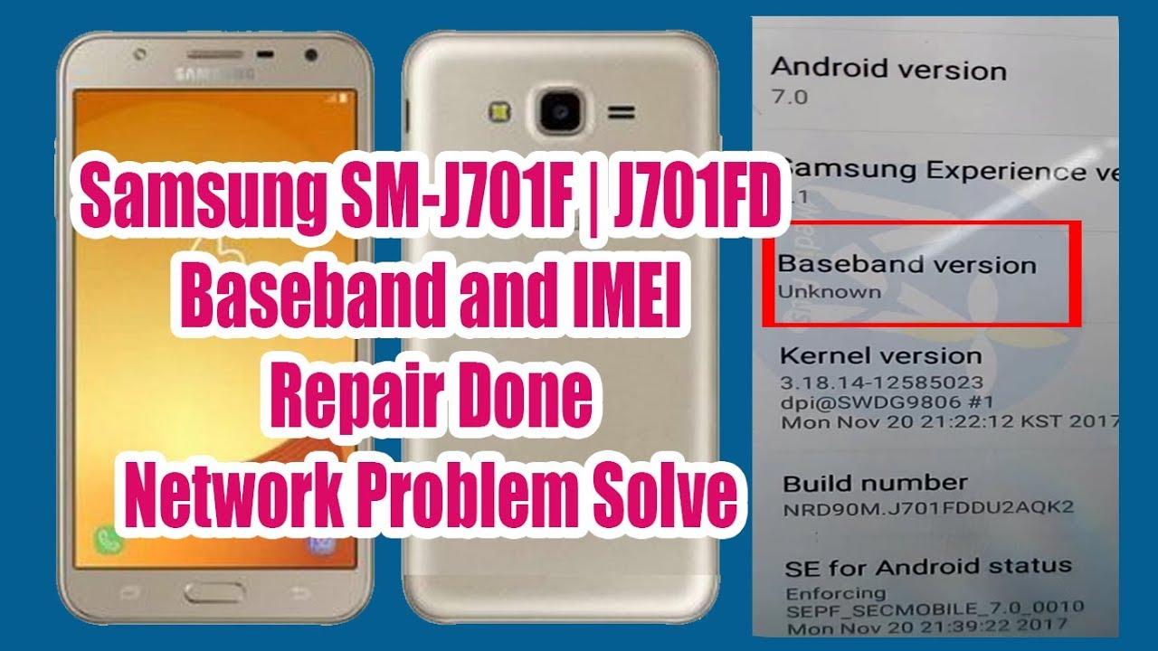 Samsung SM-J701F | J710FD IMEI and Baseband Unknown Repair Success