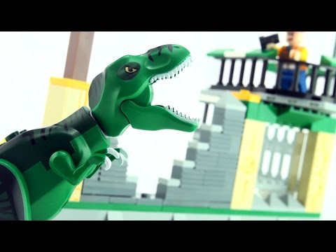 tyrannosaurus-rex-escape---lego-compatible-dinosaur-bricks---stop-motion-dinosaurs-build