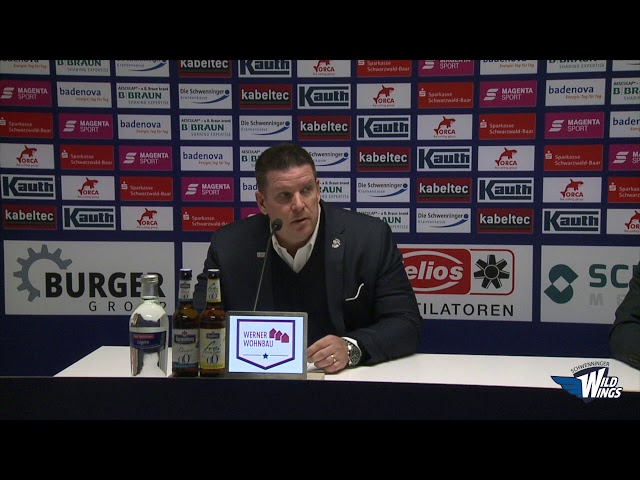 Pressekonferenz: Schwenninger Wild Wings-Straubing Tigers