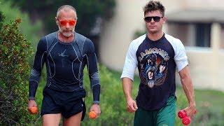 Zac Efron and Gianluca Vacchi Training/Workout