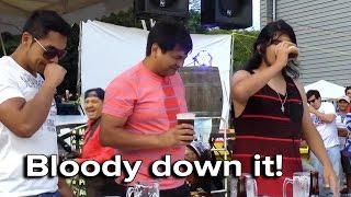 Ozzy Man Reviews: Chile Drinking Competition