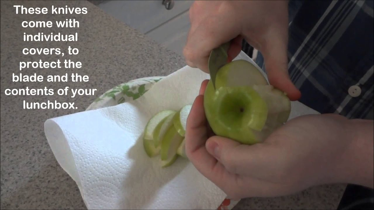 Pampered Chef Color Coated Peeling Knife Apple Wedges
