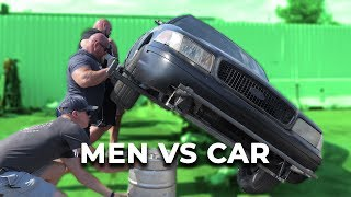 STRONGMEN VS CAR | EDDIE HALL ROBERT OBERST & NICK BEST