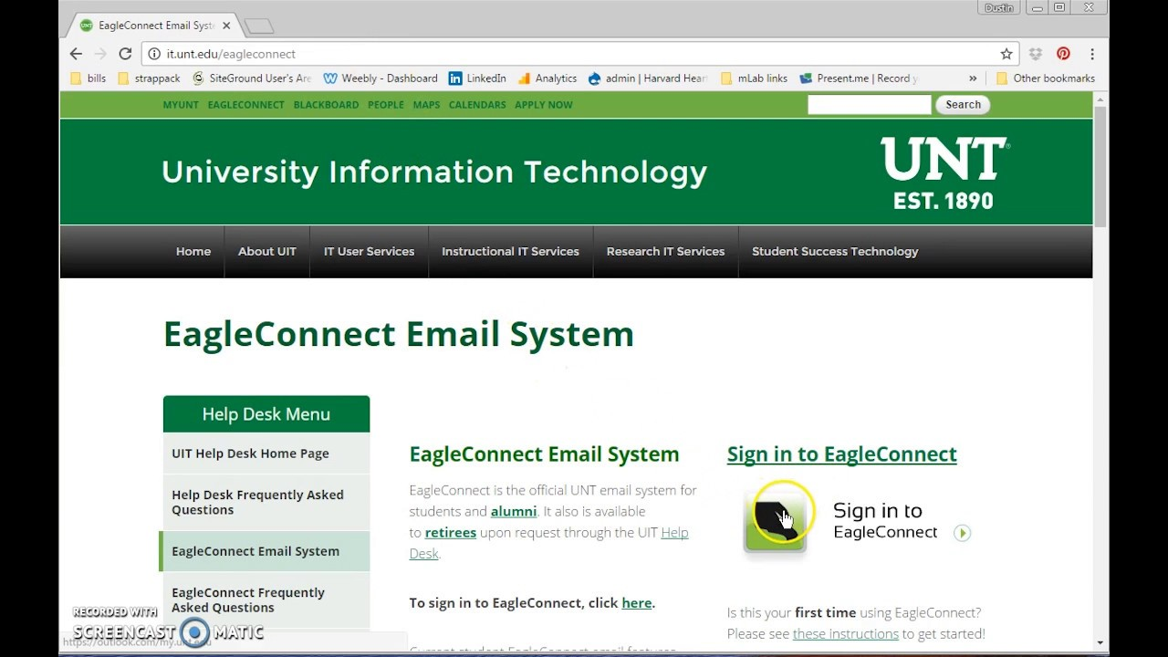 How To Forward Unt Email