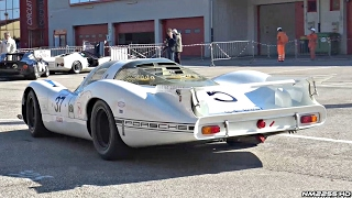 1968 porsche 908 lh flat 8 engine warm up loud sounds