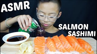 RAW Salmon Sashimi ASMR *NO Talking Eating Sounds Mukbang | N.E Let's Eat