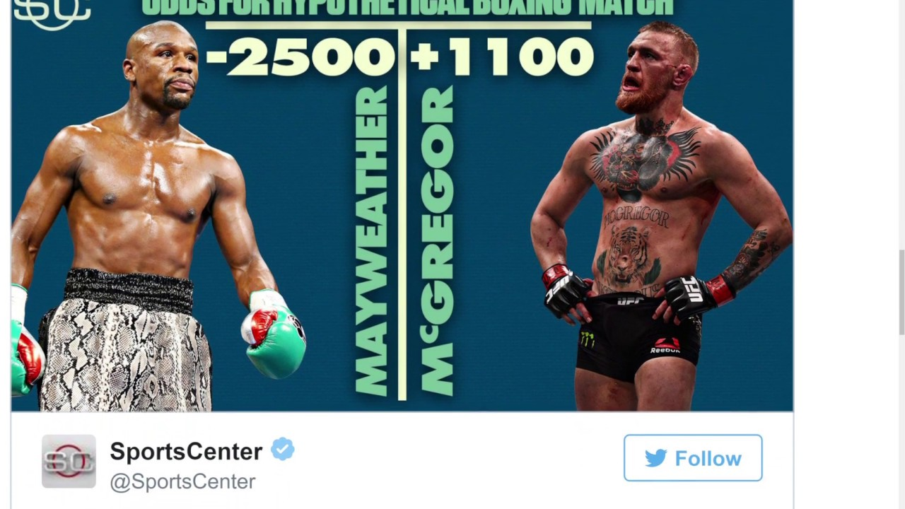Conor Mcgregor Mayweather Odds