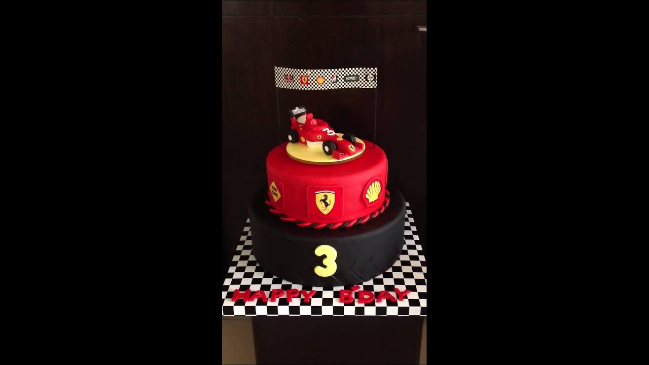 4d Ferrari Theme Rotating Cake Youtube