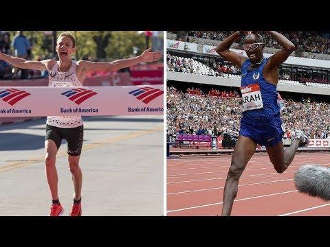 Galen Rupp vs Mo Farah At 2018 Chicago Marathon