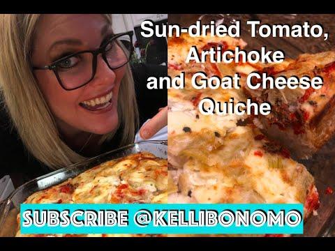 Sun-dried tomato, artichoke and goat cheese Egg white Quiche