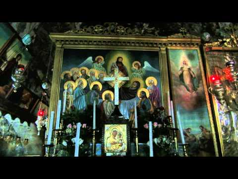 The story accompanied by explanations of the Virgin Mary's Tomb in the Kidron Valley, Jerusalem