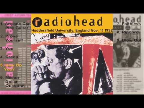 Radiohead - Huddersfield, England LIVE 11-11-1992 [FULL CONCERT]