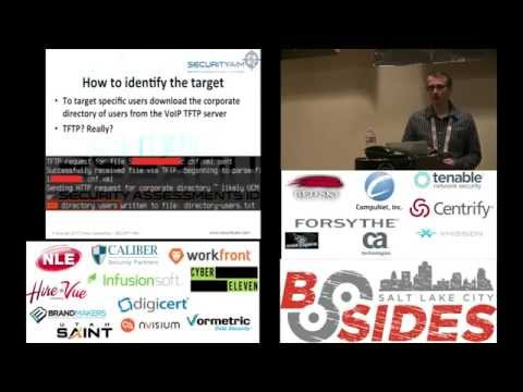 BSidesSLC 2015 -- How to prevent eavesdropping on office VoIP calls -- Dmitry Dessiatnikov