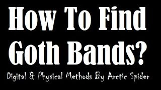 How To Find Goth Music