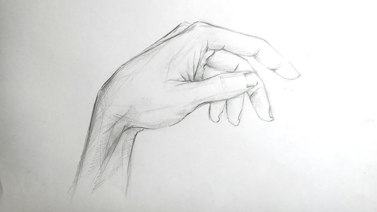 Pencil Sketch Of Human Body Parts Hands Youtube