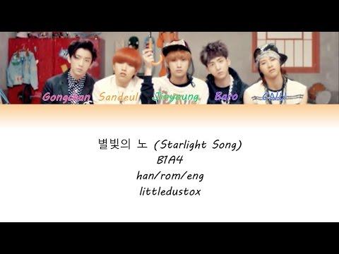 별빛의 노래 (Starlight Song)- B1A4 Color Coded lyrics