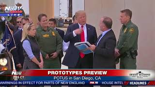 PROTOTYPES PREVIEW: President Trump takes a look at border wall prototypes in San Diego (FNN)