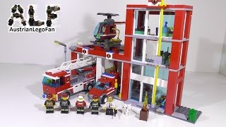 Lego City 60004 Fire Station / Feuerwehr Hauptquartier - Lego Speed Build Review
