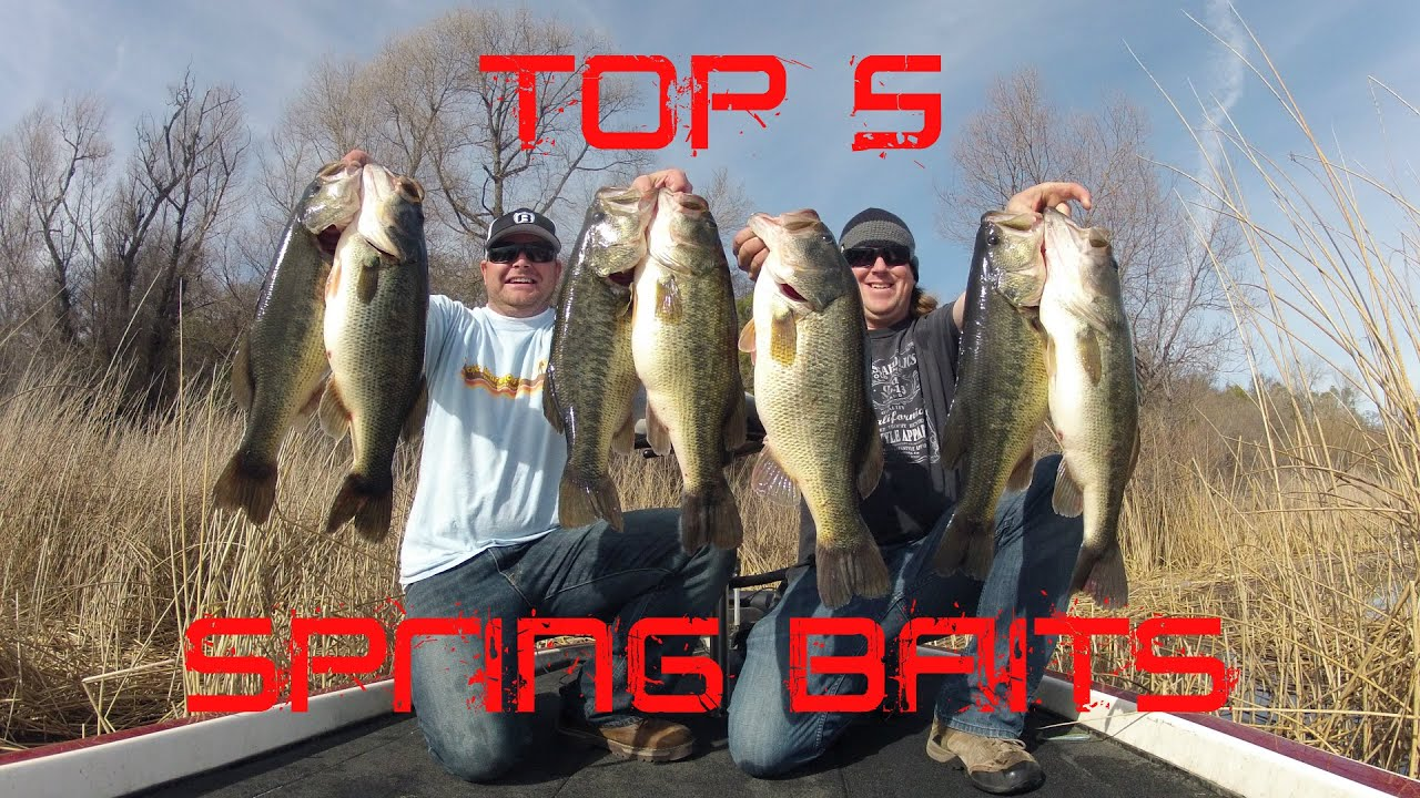Top bass fishing lures for Spring bass fishing