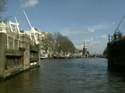 Oude Schans: former defence canal Amsterdam (Holland)